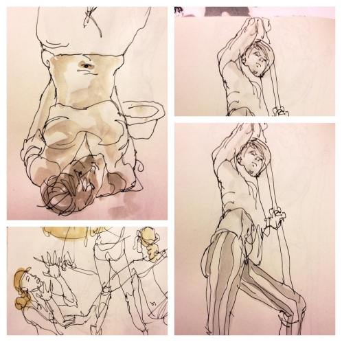 Some quick gesture sketches during lunch @nerdgirl
